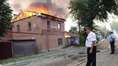 Пожар на территории жилого сектора в Ростове-на-Дону. 21 августа 2017