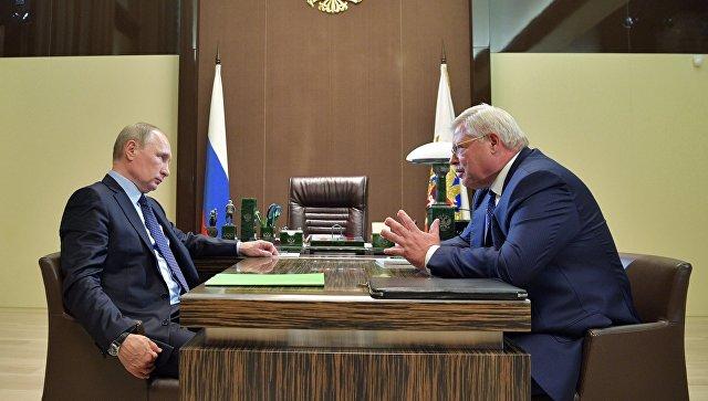 Путин обсудил с Жвачкиным жалобы жителей Томской области