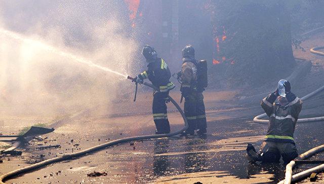 В Москве при пожаре в жилом доме пострадали четыре человека