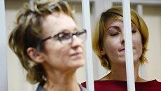 Ольга Алисова во время предварительных слушаний в Железнодорожном суде. Архивное фото