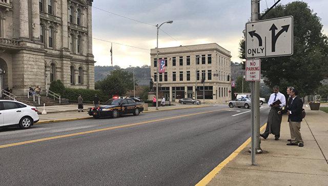 Место нападения на Джозефа Браззиза в городе Стьюбенвилль США. 21 августа 2017