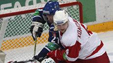 Игровой момент матча Динамо (Москва) - Витязь. Архивное фото