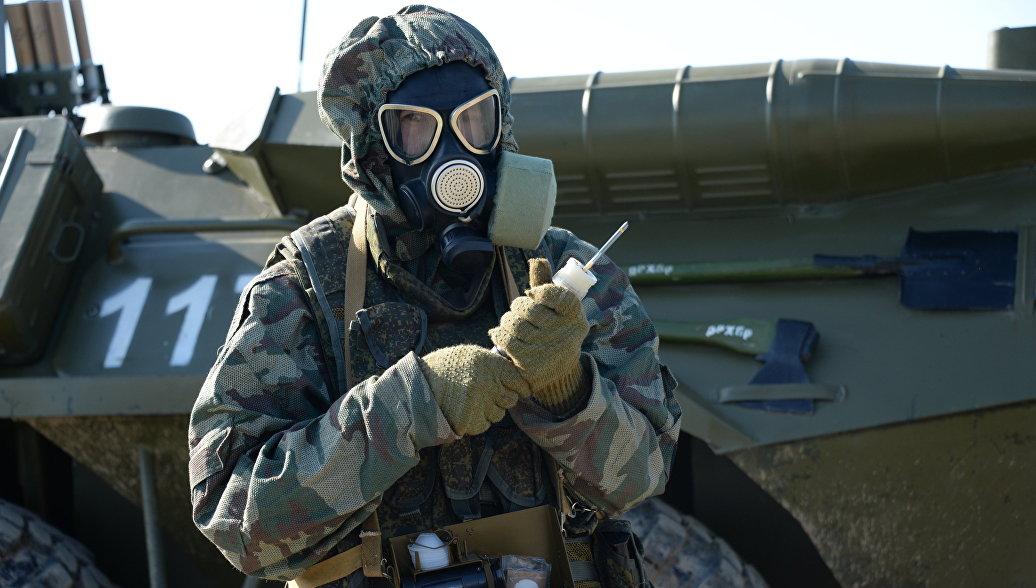 Военные учения войск РХБЗ. Архивное фото