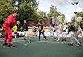 На баскетбольной площадке чемпион Европы Никита Моргунов показал мастер-класс
