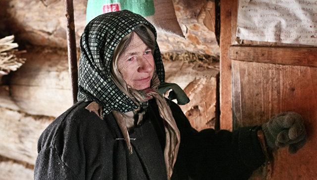Кузбасская отшельница Агафья Лыкова. Архивное фото