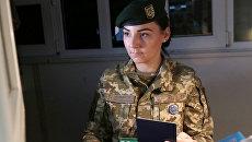 Сотрудница пограничной службы Украины