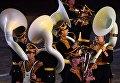 Музыканты Центрального военного оркестра Министерства обороны РФ на торжественной церемонии закрытия X Международного военно-музыкального фестиваля Спасская башня в Москве
