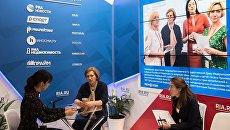 Глава Роспотребнадзора Анна Попова в павильоне МИА Россия сегодня на Восточном экономическом форуме