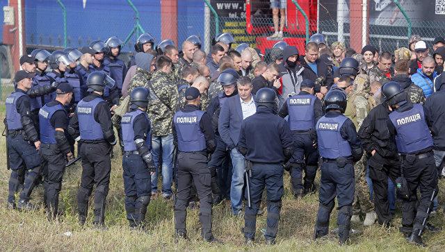 На границе с Польшей произошла стычка сторонников и противников Саакашвили