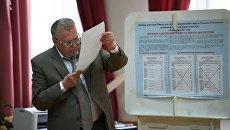 Лидер ЛДПР Владимир Жириновский в единый день голосования на избирательном участке в Москве. 10 сентября 2017. Архивное фото