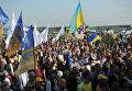 У пункта пропуска Краковец на украинско-польской границе, где собирается пересечь границу бывший президент Грузии, экс-губернатор Одесской области Михаил Саакашвили