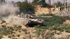 Танк сирийской армии в городе Дейр-эз-Зор