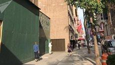 Место, на котором находились часы госдолга США в Нью-Йорке