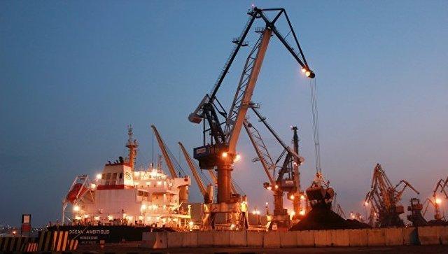 Порт «Южный»: Первое судно суглем изсоедененных штатов прибыло в Украинское государство