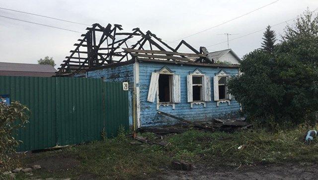 Пожар в Омске, унесший жизни 3-х человек. 14 сентября 2017