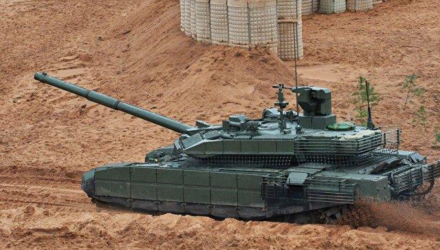 Танк Т-90М на учениях Запад-2017 в Ленинградской области. 13 сентября 2017