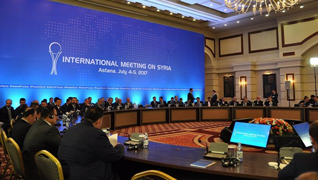 Участники международной встречи по сирийскому урегулированию в Астане. Архивное фото