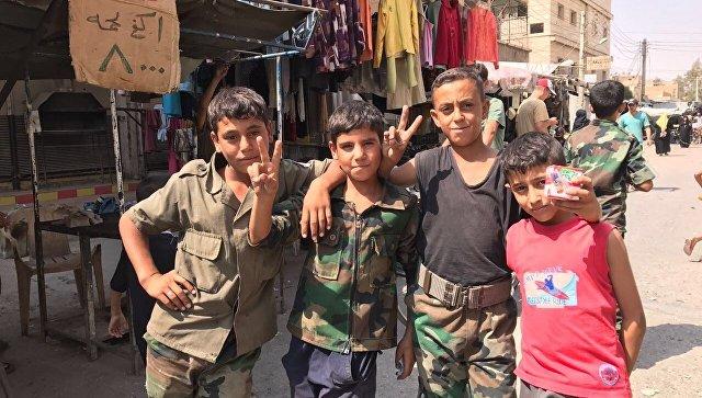 Сирийские дети. Архивное фото