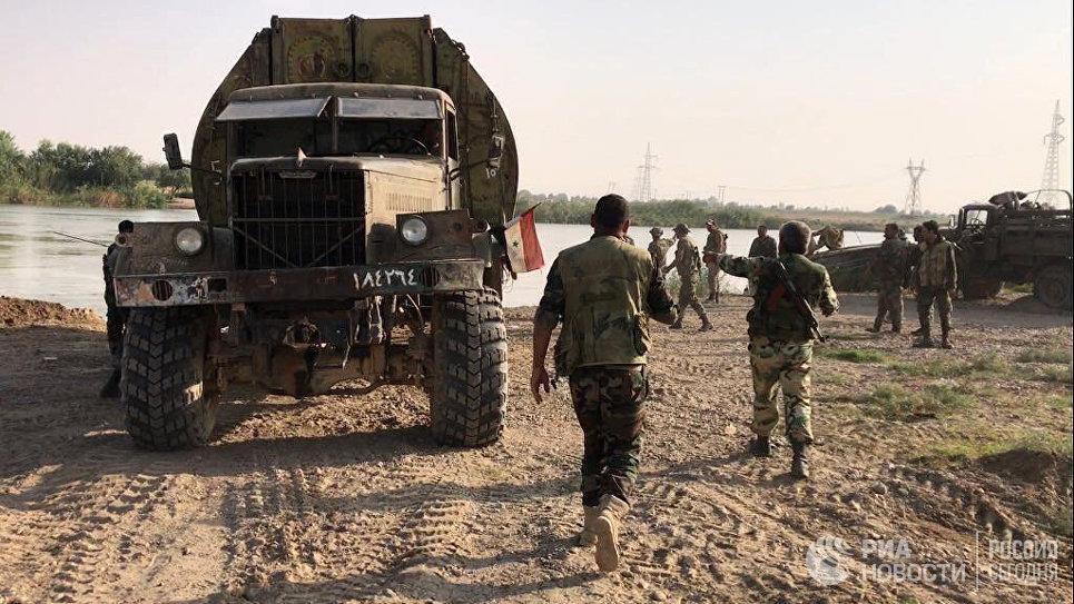 Сирийская армия успешно форсировала Евфрат