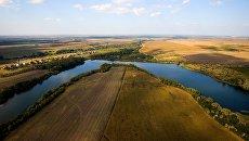 Вид на поля Краснодарского края. Архивное фото