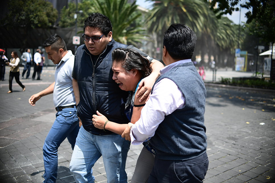 После землетрясения: вМексике объявлен трехдневный траур попогибшим