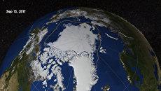 Площадь льдов в Арктике на 13 сентября 2017 года