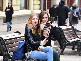Девушки в Москве. Архивное фото