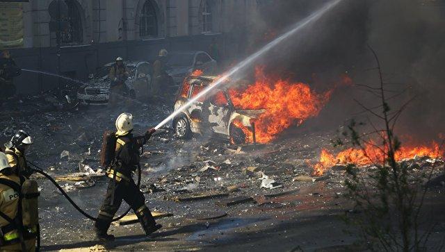 ВРостове-на-Дону потушили интенсивный пожар вжилом секторе