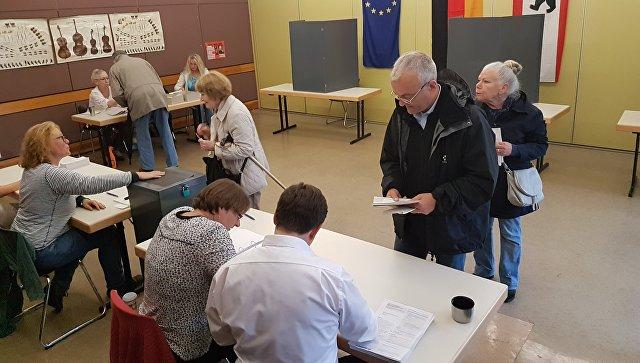 Жители юго-востока Берлина отдают голоса Меркель. 24 сентября 2017