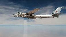 Нанесение авиаударов Ту-95МС крылатыми ракетами ХА-101 по объектам ИГИЛ в Сирии. 26 сентября 2017 года
