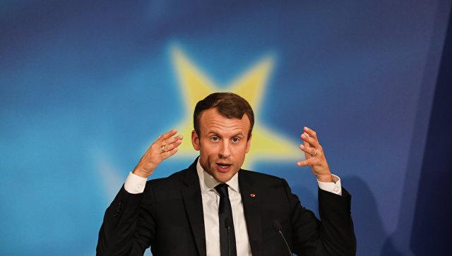 Выступление президента Франции Эммануэля Макрона. Архивное фото