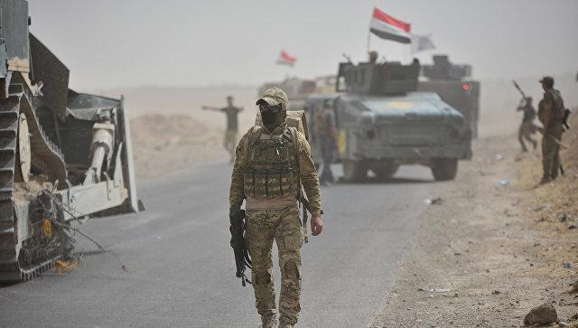 Бойцы сил быстрого реагирования Ирака под Киркуком. Архивное фото