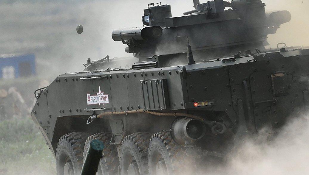 В Российской Федерации разрабатывают танк наколесной платформе— «Бумеранг» запущен