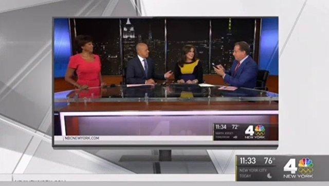 Беременная телеведущая начала рожать вовремя вечернего выпуска новостей