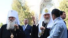 Патриарх Кирилл и митрополит Ташкентский и Узбекистанский Викентий в Самарканде. 30 сентября 2017