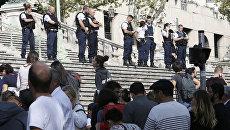 Полиция на вокзале Сен-Шарль в Марселе. 1 октября 2017