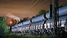 Транспортировка труб для строительства  газопровода Северный поток - 2. Архивное фото