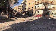 Последствия ракетного обстрела в Дейр-эз-Зоре. Архивное фото