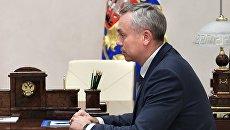 Андрей Травников во время встречи с президентом РФ Владимиром Путиным. 6 октября 2017.  Архивное фото
