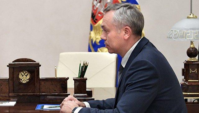Андрей Травников во время встречи с президентом РФ Владимиром Путиным. 6 октября 2017