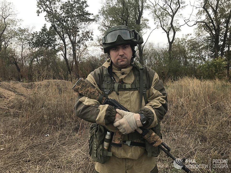 Начальник штаба разведывательно-штурмового батальона Александр Крештоп, Донбасс