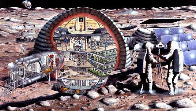 Лунная база. Архивное фото