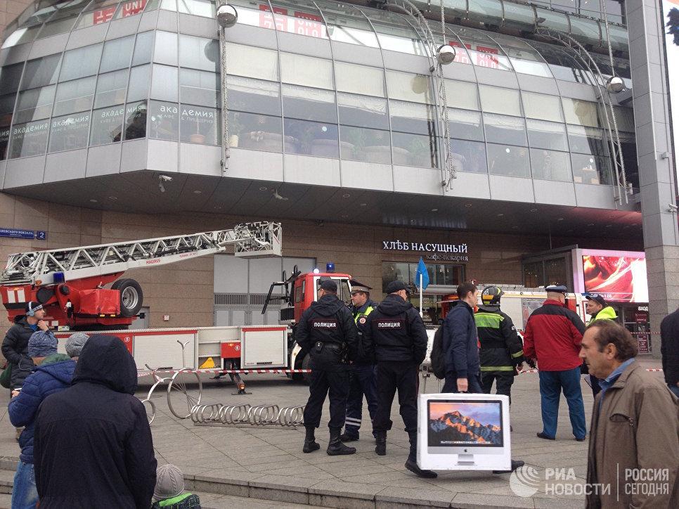 Возгорание в ТЦ Европейский в Москве. 16 октября 2017