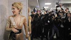 Телеведущая Ксения Собчак присутствует в Государственном Кремлевском Дворце перед началом церемонии вручения музыкальной премии Золотой граммофон. Архивное фото