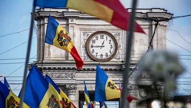 Флаги Молдавии в Кишиневе. Архивное фото