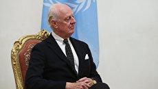 Спецпосланник генсекретаря ООН по Сирии Стаффан де Мистура. Архивное фото