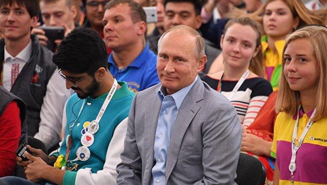 Путин порекомендовал участникам фестиваля молодежи строить прикладные планы