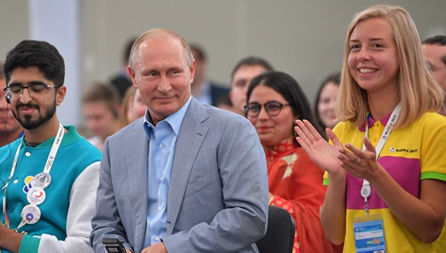 Путин посоветовал участникам фестиваля молодежи строить прикладные планы