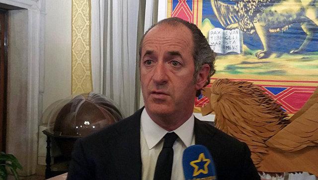 Глава Венето заявил, что немедленно отменил бы антироссийские санкции