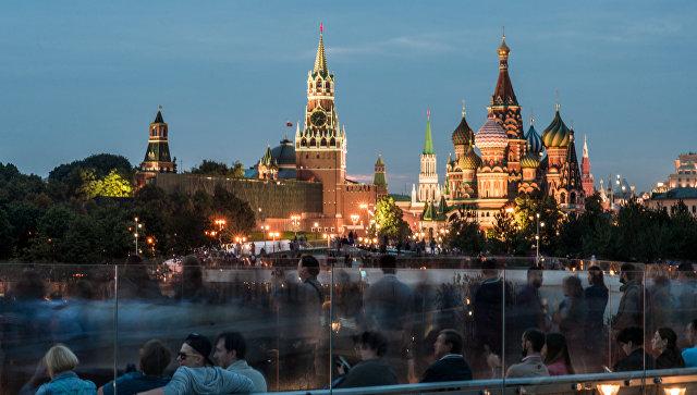 Вид на Кремль из парка Зарядье. Архивное фото